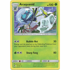 Araquanid 15/147 Rare - Pokemon Sun & Moon Burning Shadows Card