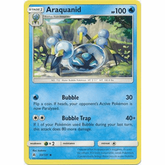 Araquanid 33/131 Uncommon - Pokemon Sun & Moon Forbidden Light Card