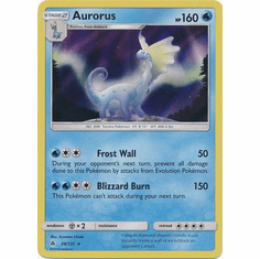 Aurorus 28/131 Holo Rare - Pokemon Sun & Moon Forbidden Light Card