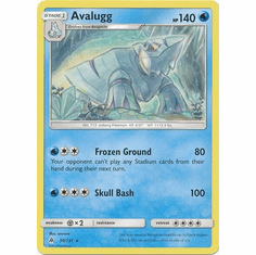 Avalugg 30/131 Rare - Pokemon Sun & Moon Forbidden Light Card