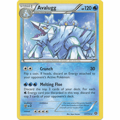 Avalugg 37/114 Rare - Pokemon XY Steam Siege Card