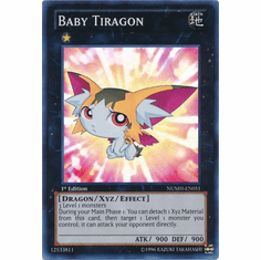 Baby Tiragon NUMH-EN051 - YuGiOh Number Hunters Super Rare Card