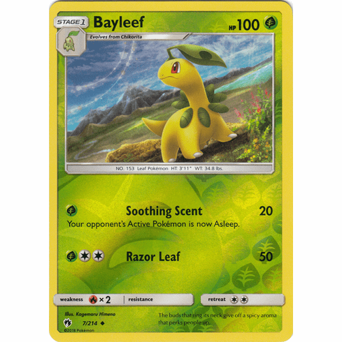 Bayleef - 7/214 (Reverse Foil) Pokemon » SM Lost Thunder Uncommon