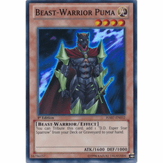 Beast-Warrior Puma HA07-EN032  - YuGiOh Knight Of Stars Super Rare Card