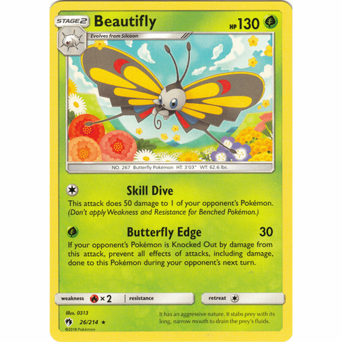 Beautifly - 26/214 Pokemon » SM Lost Thunder Rare