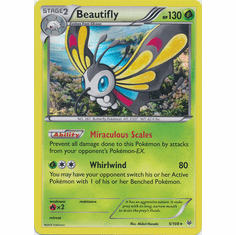 Beautifly 5/108 Holo Rare - Pokemon XY Roaring Skies Card