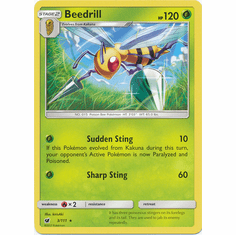 Beedrill 3/111 Rare - Pokemon Crimson Invasion Card