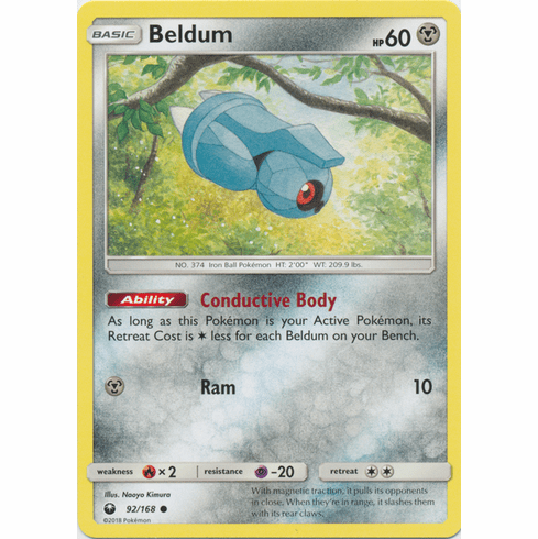 Beldum 92/168 Common - Celestial Storm SM7 Pokemon Card