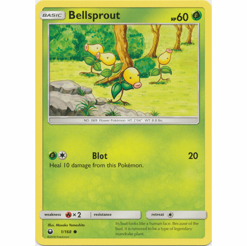 Bellsprout 1/168 Common - Celestial Storm SM7 Pokemon Card