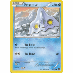 Bergmite 36/114 Common - Pokemon XY Steam Siege Card