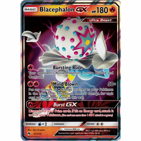 Blacephalon GX - 52/214 -Sun & Moon: Lost Thunder  Ultra Rare