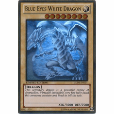 Blue-ENo White Dragon GLD5-EN001 - YuGiOh Haunted Mine Ghost / Gold Rare Card