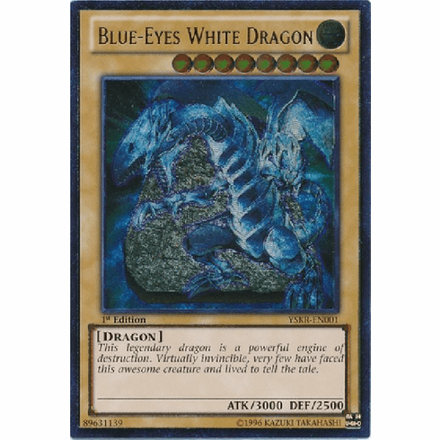 Blue-Eyes White Dragon YSKR-EN001 - Ultimate Rare YuGiOh Card