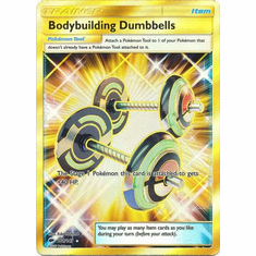 Bodybuilding Dumbbells 161/147 Secret Rare - Pokemon Sun & Moon Burning Shadows Card