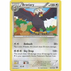 Braviary 93/114 Uncommon - Pokemon XY Steam Siege Card