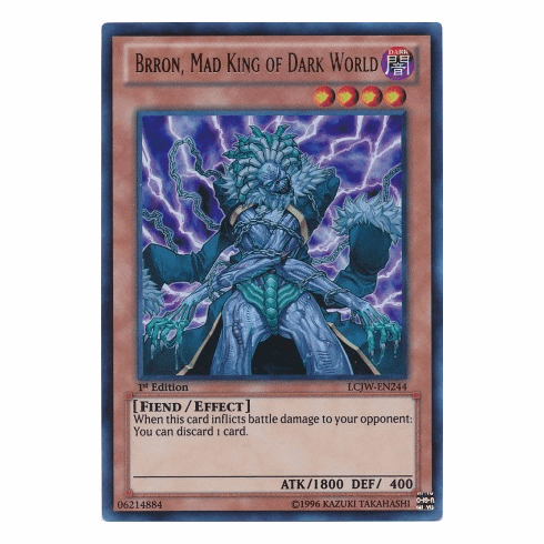 Brron, Mad King of Dark World LCJW-EN244 - YuGiOh Joey's World Ultra Rare