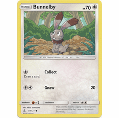 Bunnelby 97/131 Common - Pokemon Sun & Moon Forbidden Light Card