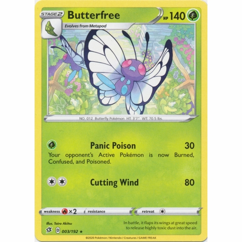 Butterfree - 003/192 Pokemon » SWSH Rebel Clash Rare