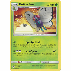 Butterfree 3/147 Rare - Pokemon Sun & Moon Burning Shadows Card