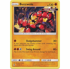 Buzzwole 77/131 Rare - Pokemon Sun & Moon Forbidden Light Card