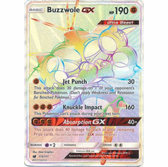 Buzzwole GX 115/111 Hyper Rare - Pokemon Crimson Invasion Card