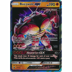 Buzzwole GX 57/111 Ultra Rare - Pokemon Crimson Invasion Card