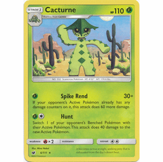 Cacturne 6/111 Rare - Pokemon Crimson Invasion Card