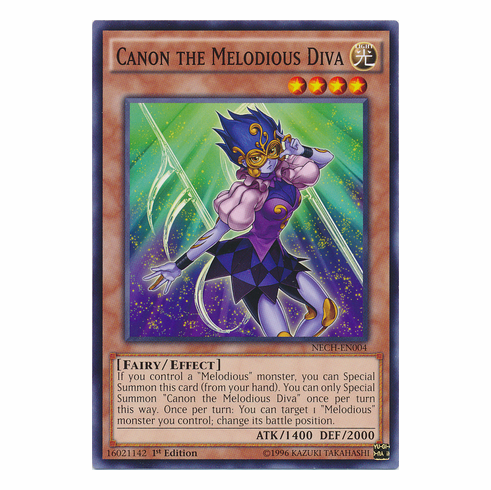 Canon the Melodious Diva NECH-EN004 - YuGiOh The New Challengers Common