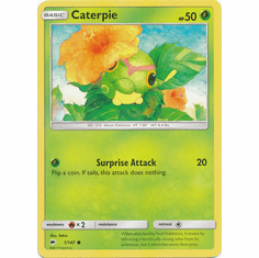 Caterpie 1/147 Common - Pokemon Sun & Moon Burning Shadows Card