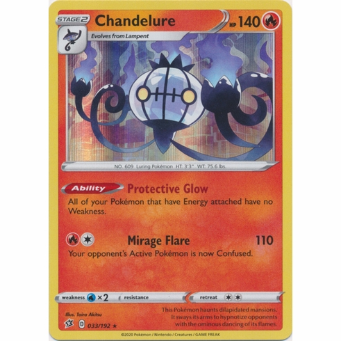 Chandelure - 033/192 Pokemon » SWSH Rebel Clash Holo Rare