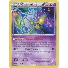 Chandelure 50/114 Rare Holo - Pokemon XY Steam Siege Card