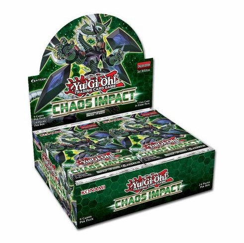 Chaos Impact Booster Box of 24 1st Edition Packs (Yugioh)  sealed