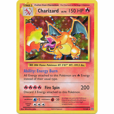 Charizard 11/108 Holo Rare - Pokemon XY Evolutions Single Card