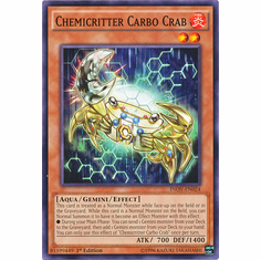 Chemicritter Carbo Crab INOV-EN024 Common - YuGiOh Invasion: Vengeance Card