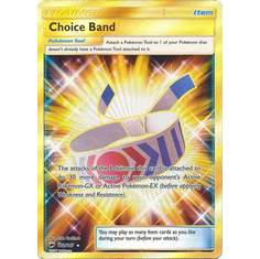Choice Band 162/147 Secret Rare - Pokemon Sun & Moon Burning Shadows Card