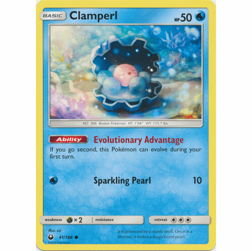 Clamperl 41/168 Common - Celestial Storm SM7 Pokemon Card
