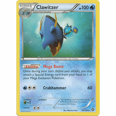 Clawitzer 34/114 Rare - Pokemon XY Steam Siege Card