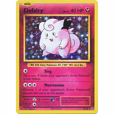 Clefairy 63/108 Holo Rare - Pokemon XY Evolutions Single Card