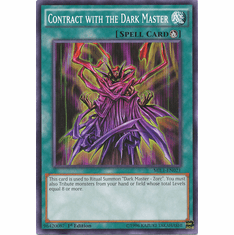 Contract with the Dark Master MIL1-EN021 Common - YuGiOh Millennium Pack Card