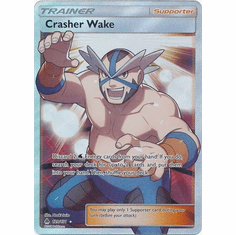 Crasher Wake 129/131 Full Art - Pokemon Sun & Moon Forbidden Light Card
