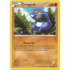 Croagunk 58/114 Common - Pokemon XY Steam Siege Card