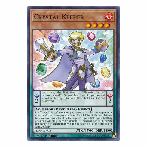 Crystal Keeper FLOD-EN093 - Common - YuGiOh Flames of Destruction