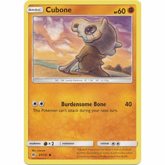 Cubone 57/131 Common - Pokemon Sun & Moon Forbidden Light Card
