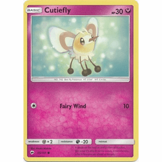 Cutiefly 95/147 Common - Pokemon Sun & Moon Burning Shadows Card