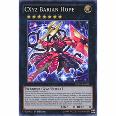 CXyz Barian Hope NECH-EN096 - YuGiOh The New Challengers Super Rare