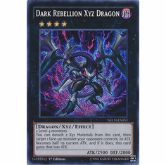 Dark Rebellion Xyz Dragon NECH-EN053 Secret Rare The New Challengers Card