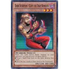 Dark Scorpion - Cliff the Trap Remover GLD5-EN007 - YuGiOh Haunted Mine Common Card