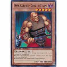 Dark Scorpion - Gorg the Strong GLD5-EN011 - YuGiOh Haunted Mine Common Card