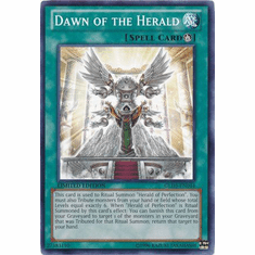 Dawn of the Herald GLD5-EN044 - YuGiOh Haunted Mine Common Card