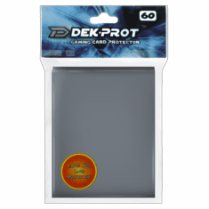 Dek Prot Standard Sized Card Sleeves - Darksteel Grey (60 Card Sleeves)